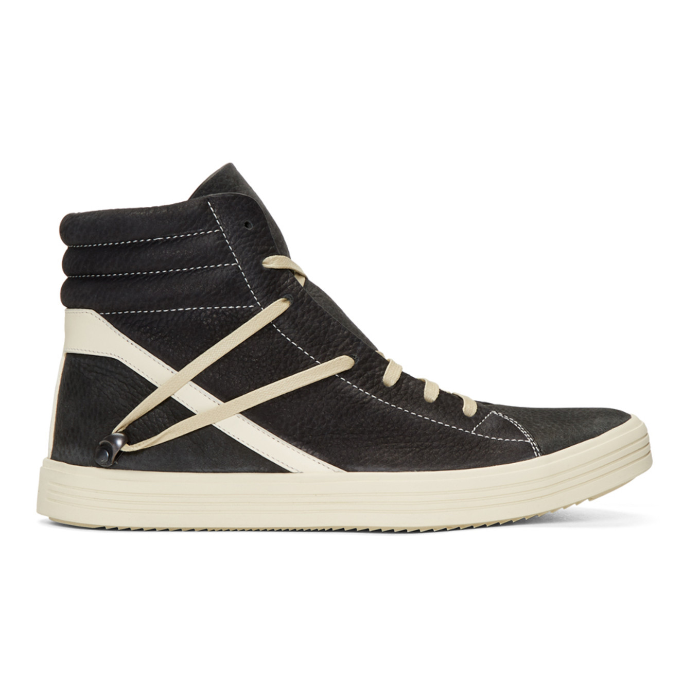 Black & Off White Geothrasher High Top Sneakers by Rick Owens
