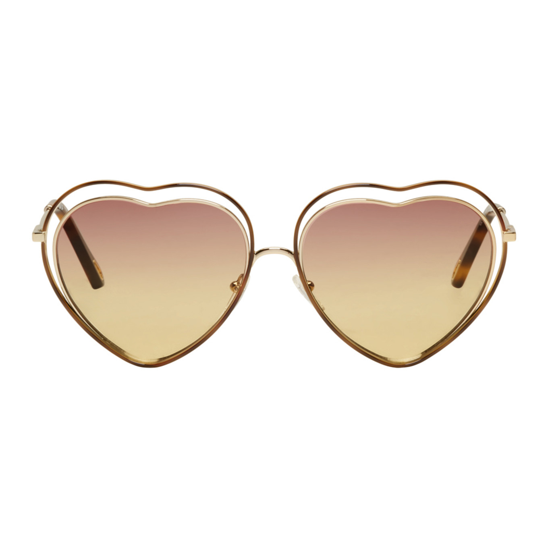 Chloé Gold Heart Poppy Love Sunglasses