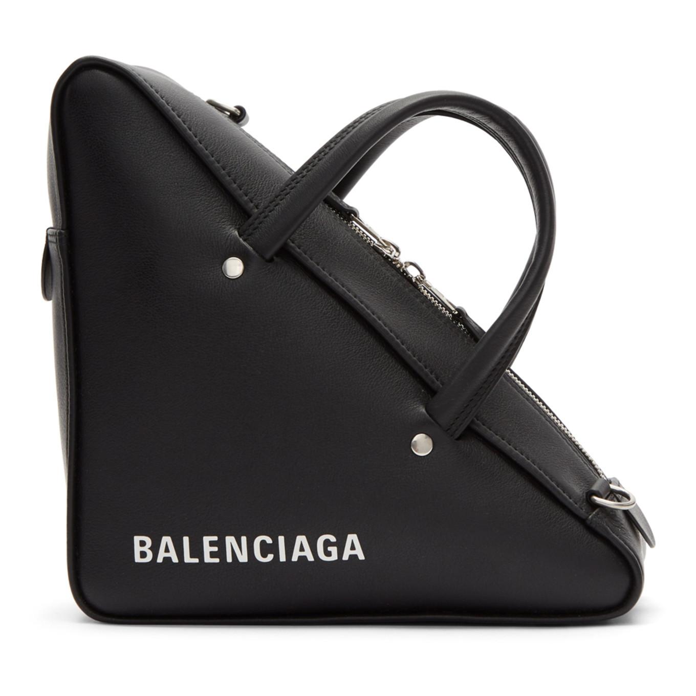Black Small Triangle Bag by Balenciaga