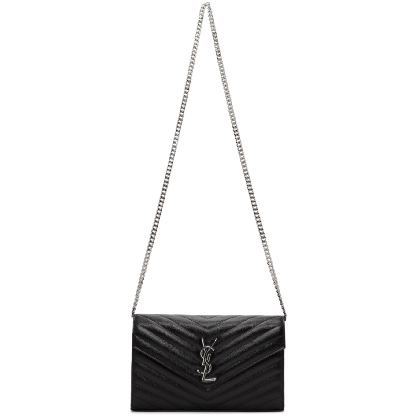 Black Medium Wallet Chain Bag by Saint Laurent