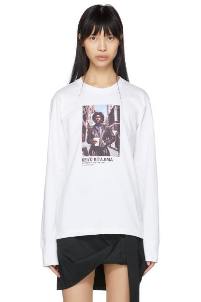 Helmut Lang - White Keizo Kitajima Edition Long Sleeve 'September 86' T-Shirt