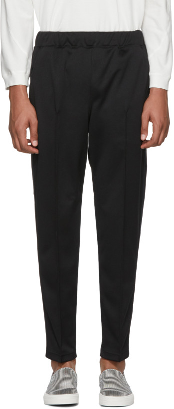 Junya Watanabe Black Smooth Lounge Pants