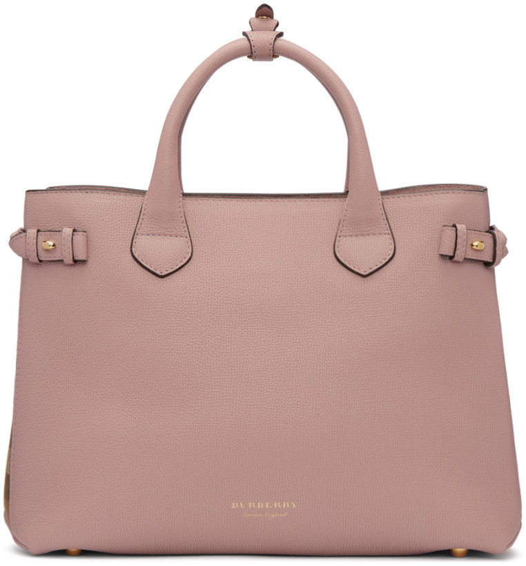 Burberry Pink Medium Banner Tote