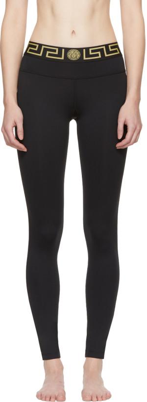 Versace Underwear Black Medusa Leggings