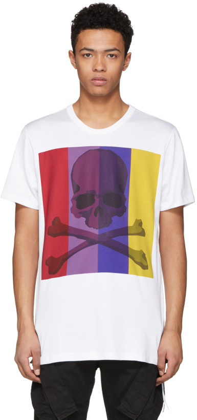 mastermind WORLD White Skull Art Logo T-Shirt