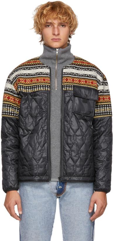 Comme des Garçons Homme Black Wool & Quilted Jacket