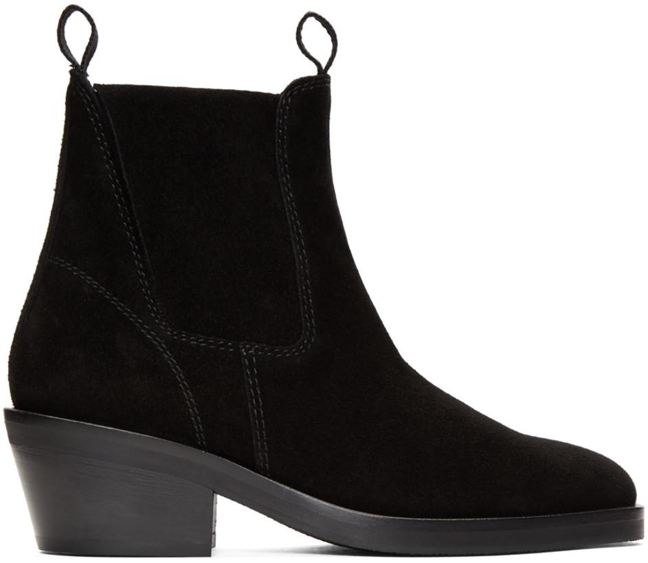 Acne Studios Black Suede Chelsea Boots