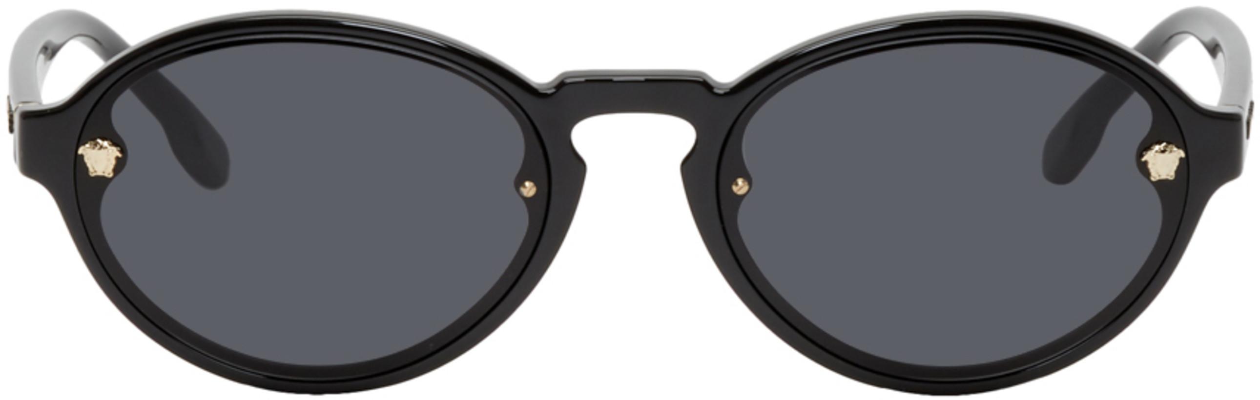 Versace Black Oval Sunglasses