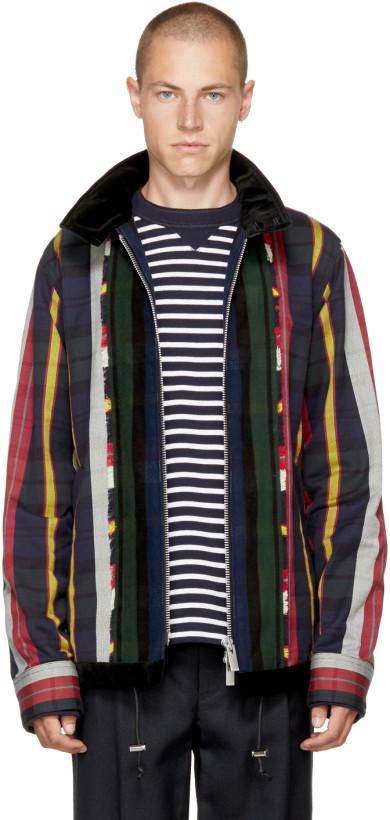 Sacai Multicolor Check & Striped Jacket