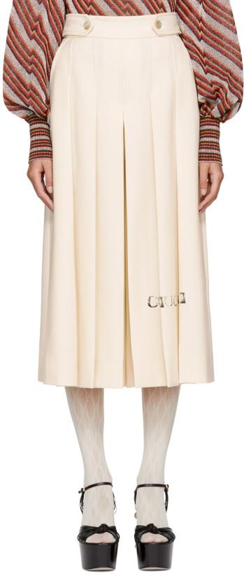 Gucci White Magnolia Culottes