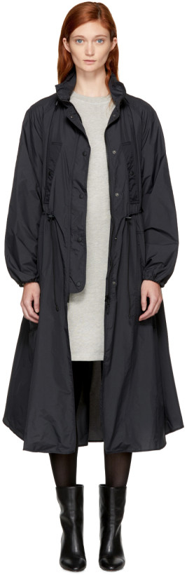 Isabel Marant Etoile Black Copal Raincoat