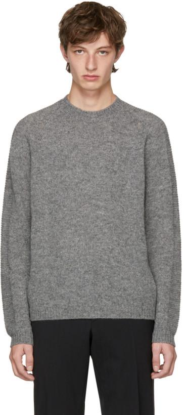Prada Men's Grey Wool Sweater