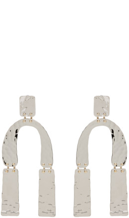 Proenza Schouler - Silver Medium Hammered Earrings