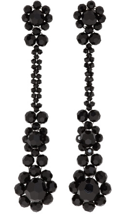 Simone Rocha - Black Victorian Drop Earrings