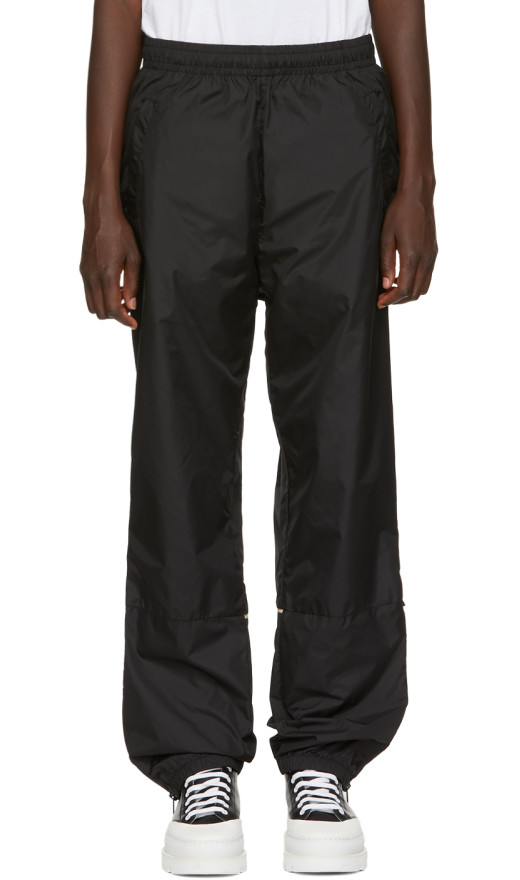 Acne Studios - Black Nylon Face Lounge Pants