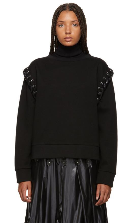 Moncler Genius - 6 Moncler Noir Kei Ninomiya Black Lace-Up Sweatshirt
