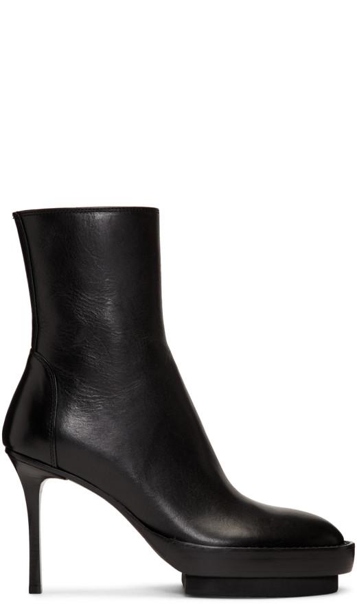 Ann Demeulemeester - Black Platform Boots