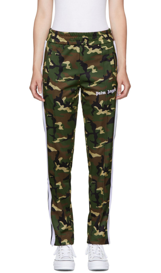 Palm Angels - Green Camo Classic Track Pants