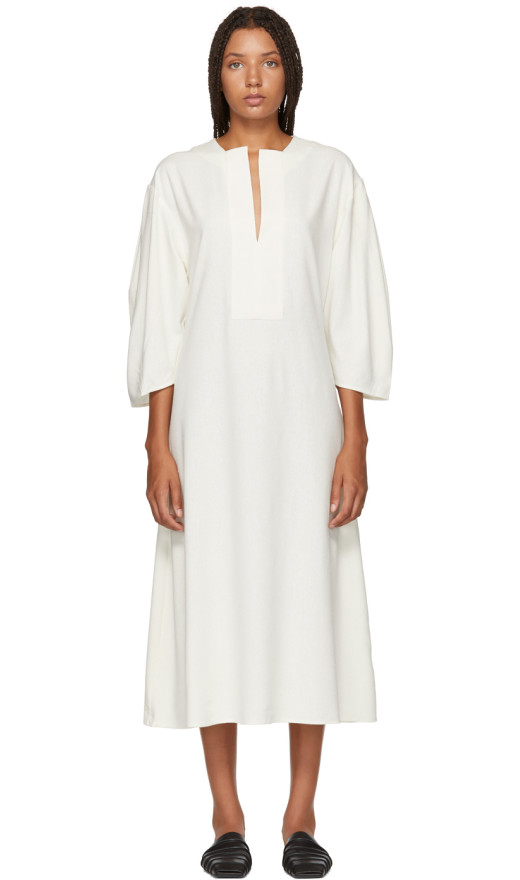 Totême - White Voluminous Marais Dress