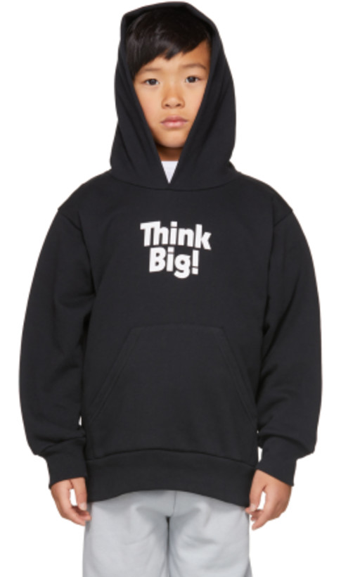 Balenciaga Kids - Black 'Think Big!' Hoodie