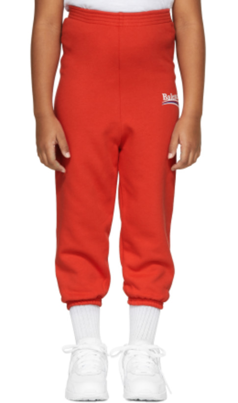 Balenciaga Kids - Red Campaign Logo Lounge Pants