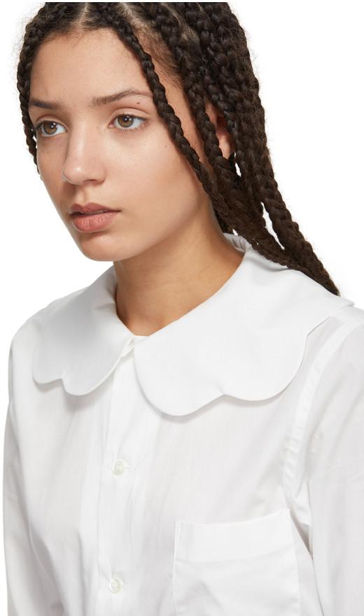 Comme des Garçons Girl - White Scalloped Collar Shirt