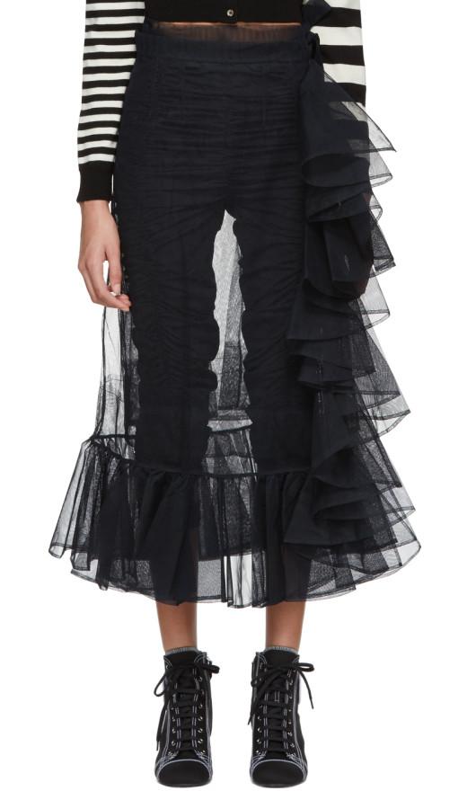 Molly Goddard - Black September Skirt