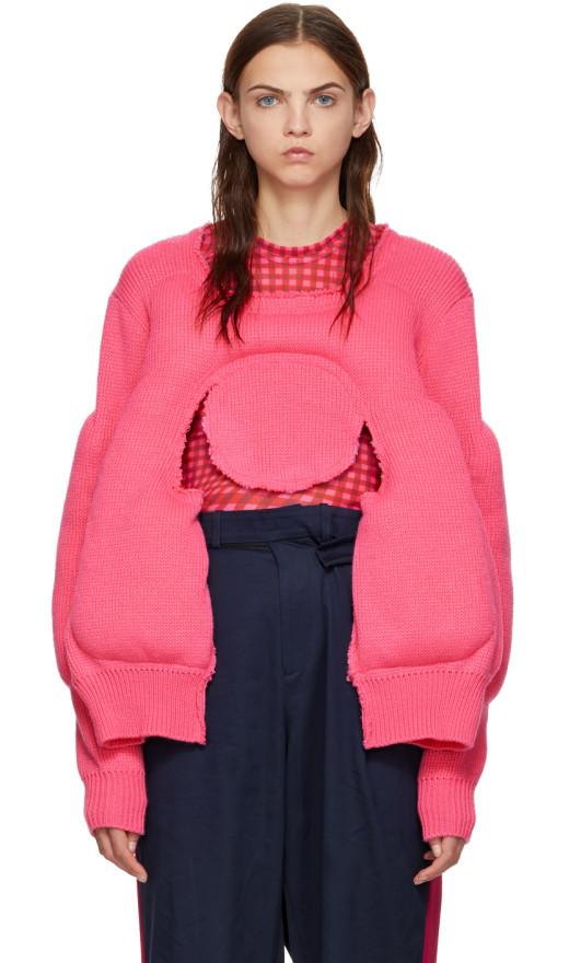 Comme des Garçons - Pink Padded Sweater