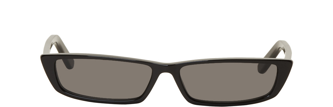 Balenciaga - Black Thin Rectangular Sunglasses