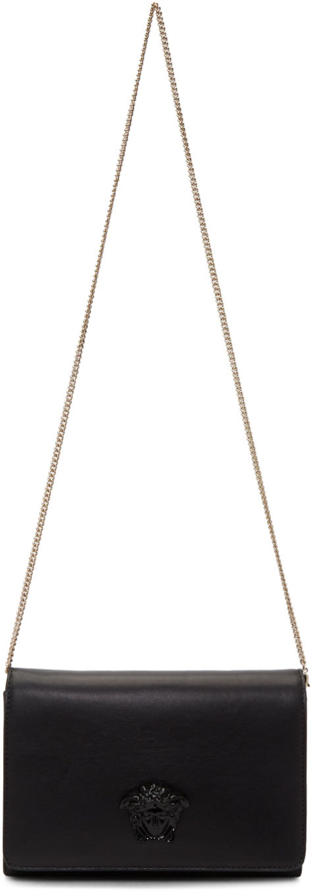 Black Tribute Medusa Wallet Chain Bag Versace esG07Pw
