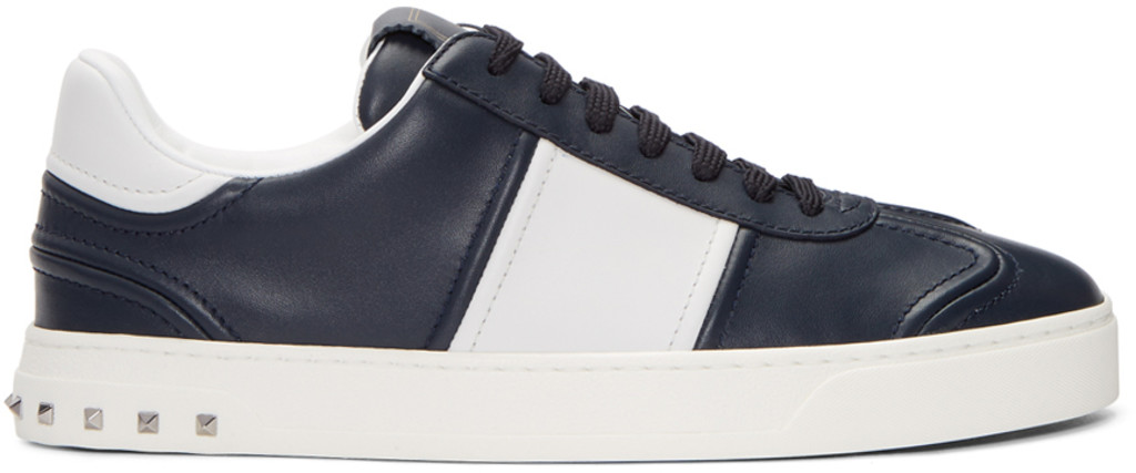 Garavani Bounce Mesh, Leather And Suede Sneakers - OrangeValentino