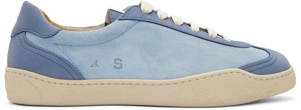 Versace Navy Lapin Multistripe Sneakers