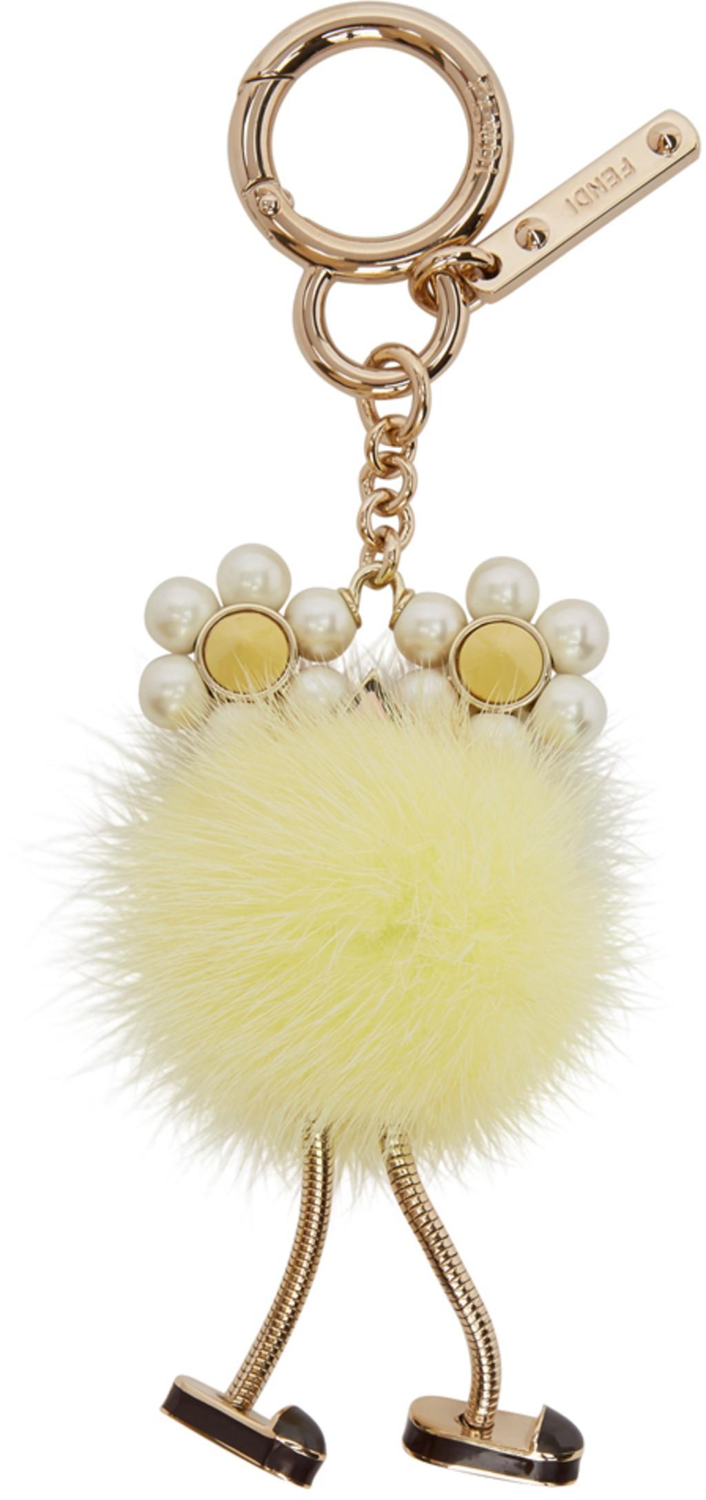 Perle Bleue Et Porte-clés De Poussin Fourrure Fendi cOcJJqy3
