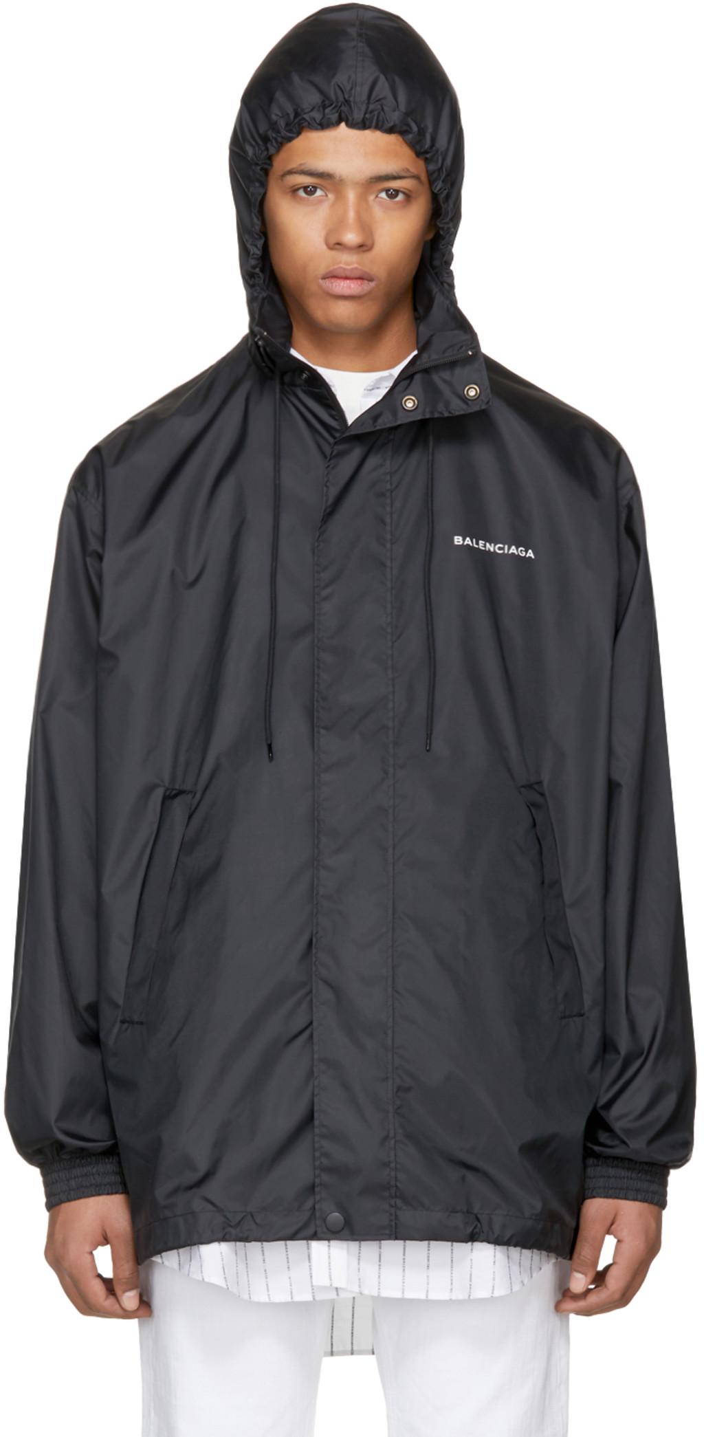 balenciaga hoodie mens navy