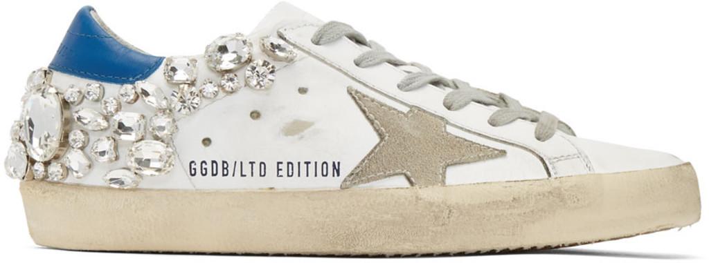 SSENSE Exclusive Silver Glitter Superstar Sneakers Golden Goose