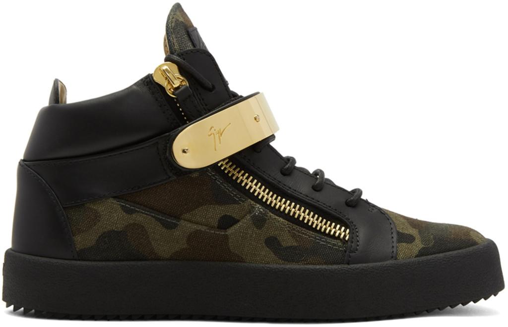 Giuseppe Zanotti Camo May London High-Top Sneakers