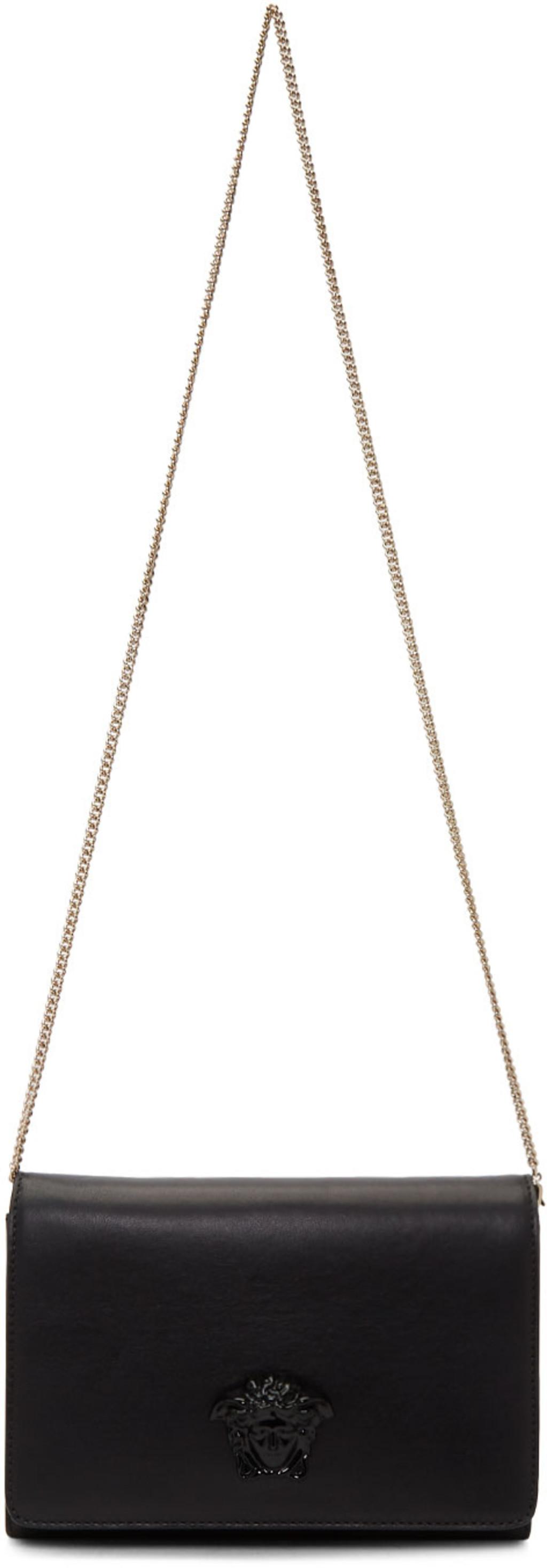 Black Tribute Medusa Wallet Chain Bag Versace