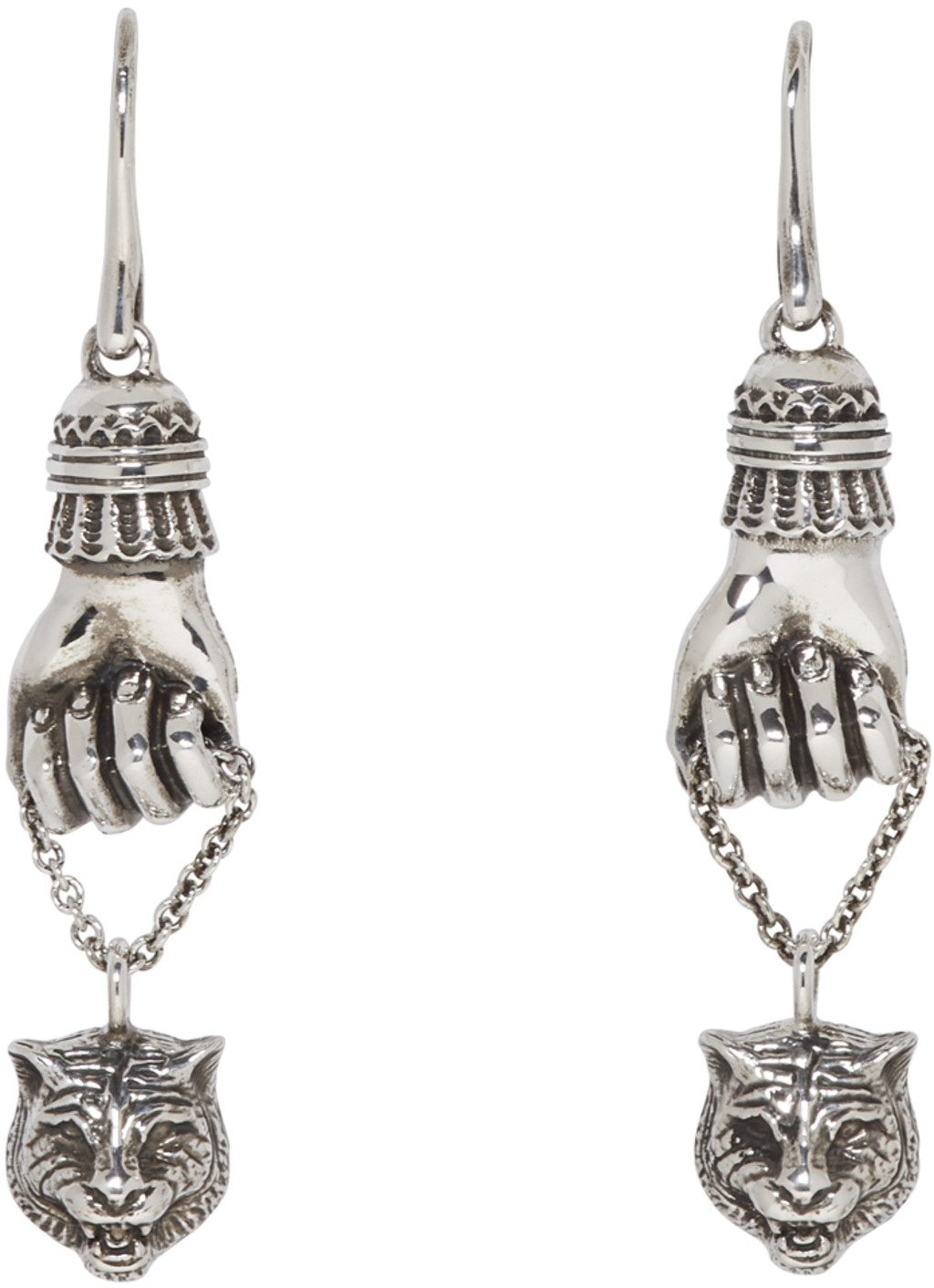 and black stud white platinum silver plated earrings charmisma sapphire