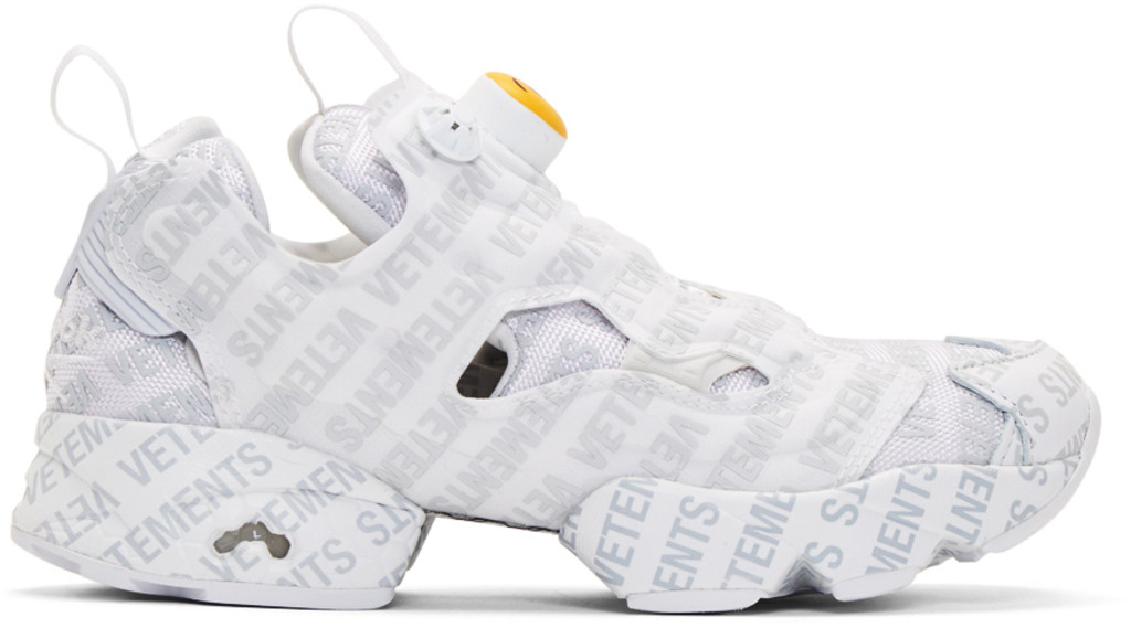 Sophia Webster White Reebok Classics Edition Logo Emoji Instapump Fury Sneakers