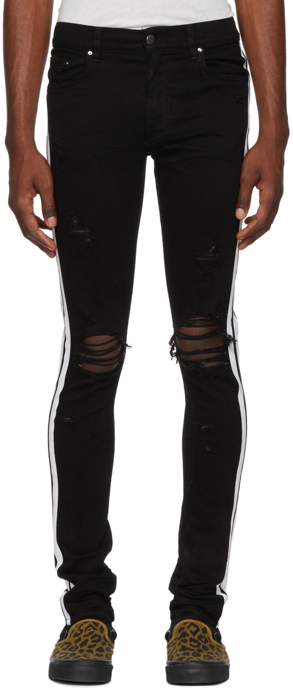 Designer Jeans For Men Ssense Biker Ripped Black Faded