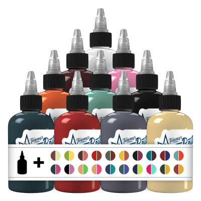 50 Fabulous Colors Set 1 Tattoo Ink