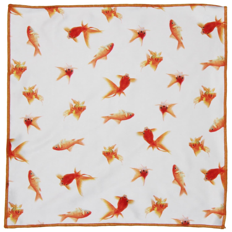 Gresham Blake Goldfish Microfiber Pocket Square