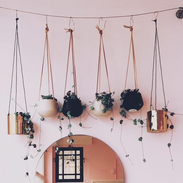 Present Time Hanging Planters Black - Matt Pink - Warm Grey - White