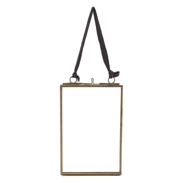 Nkuku Small Brass Kiko Portrait Frame