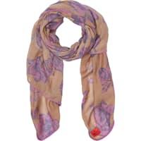 Erfurt Purple Flower Wool Scarf