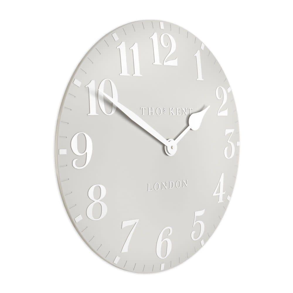 Thomas Kent Dove Grey Arabic Wall Clock