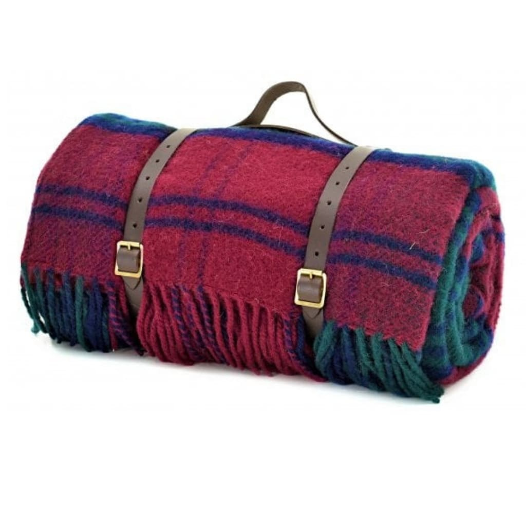 Tweedmill Lindsy Tartan Waterproof Backing & Leather Straps Polo Picnic Rug