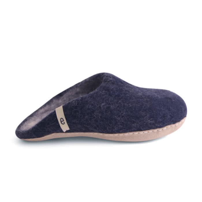 Egos Copenhagen Men's Wool Slippers - Blue