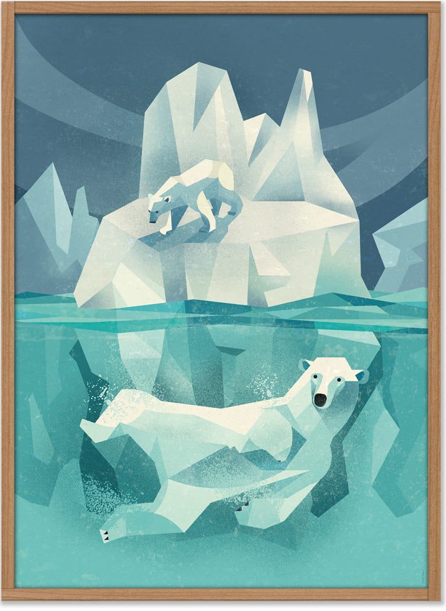 Dieter Braun Swimming Polar Bear Poster