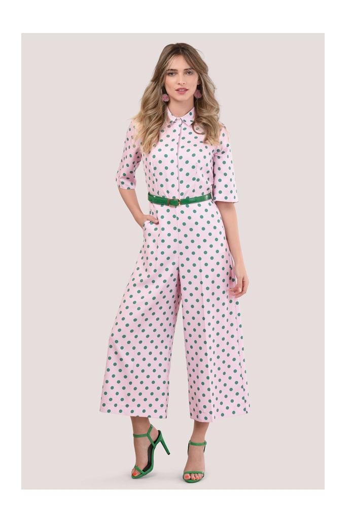 Closet Pink Polka Dot Jumpsuit